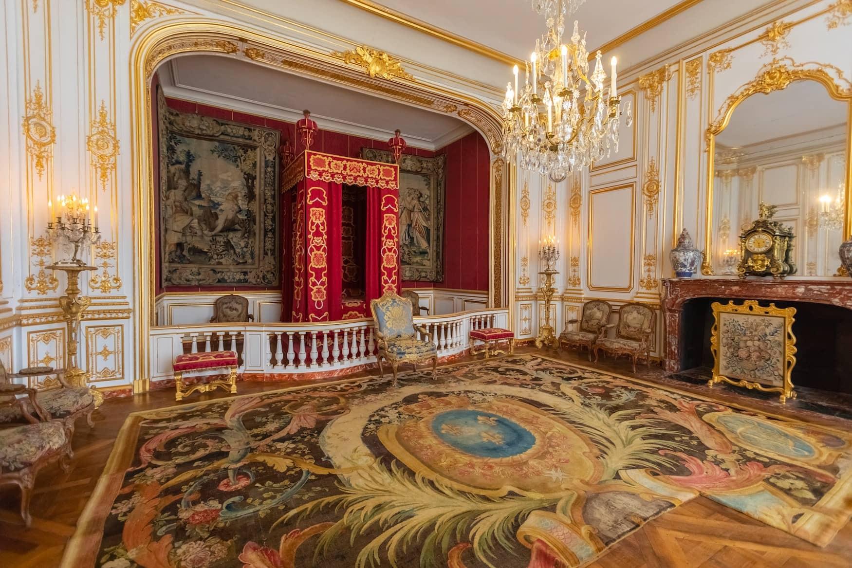 Prunkvoller Saal im Chambord Schloss