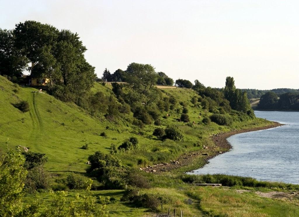 Landschaft in Westseeland in Dänemark