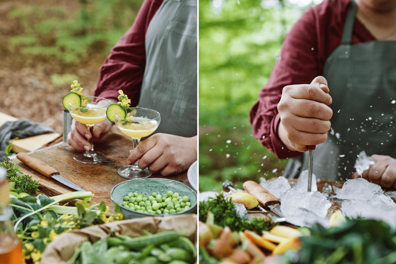 Schwedische Cocktails werden in der größten Open-Air-bar der Welt gemischt