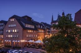 Historisches Hotel in Frankenberg am Abend