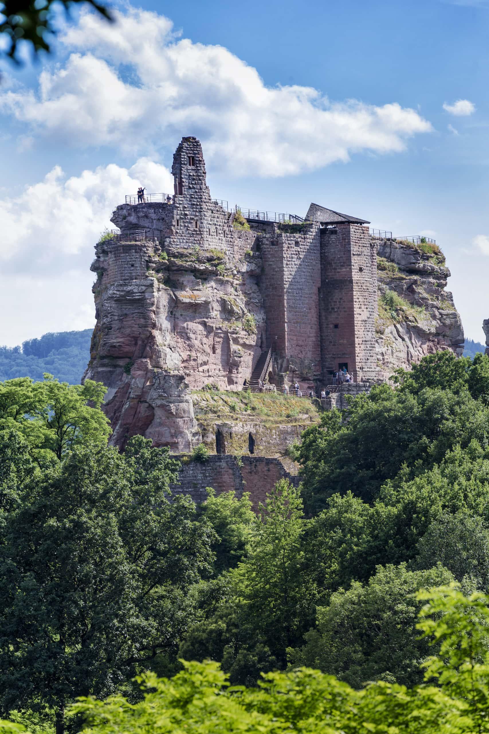 Blick auf die Burg Fleckenstein