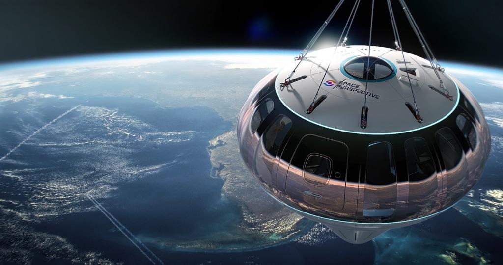 In einer Kapsel fliegt man 30 Kilometer nach oben, um sich die Erde aus der Entfernung anzuschauen.