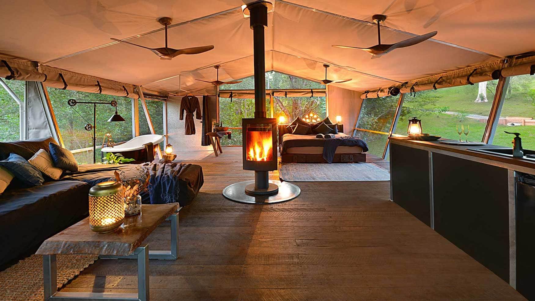 Luxuriöses Glamping in Australien, das Starry Nights Luxury Camping