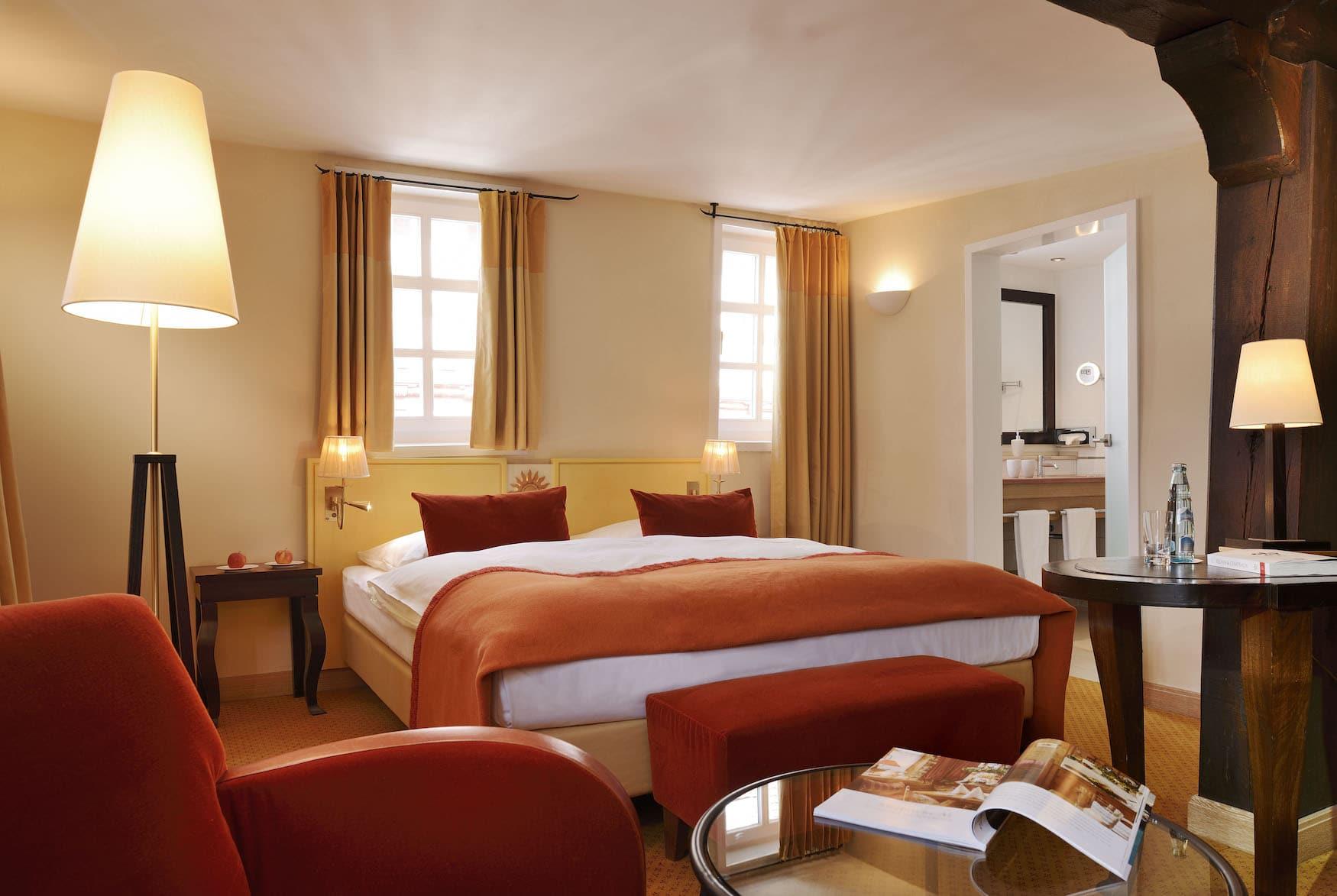 Schlafzimmer in Wellnesshotel in Hessen