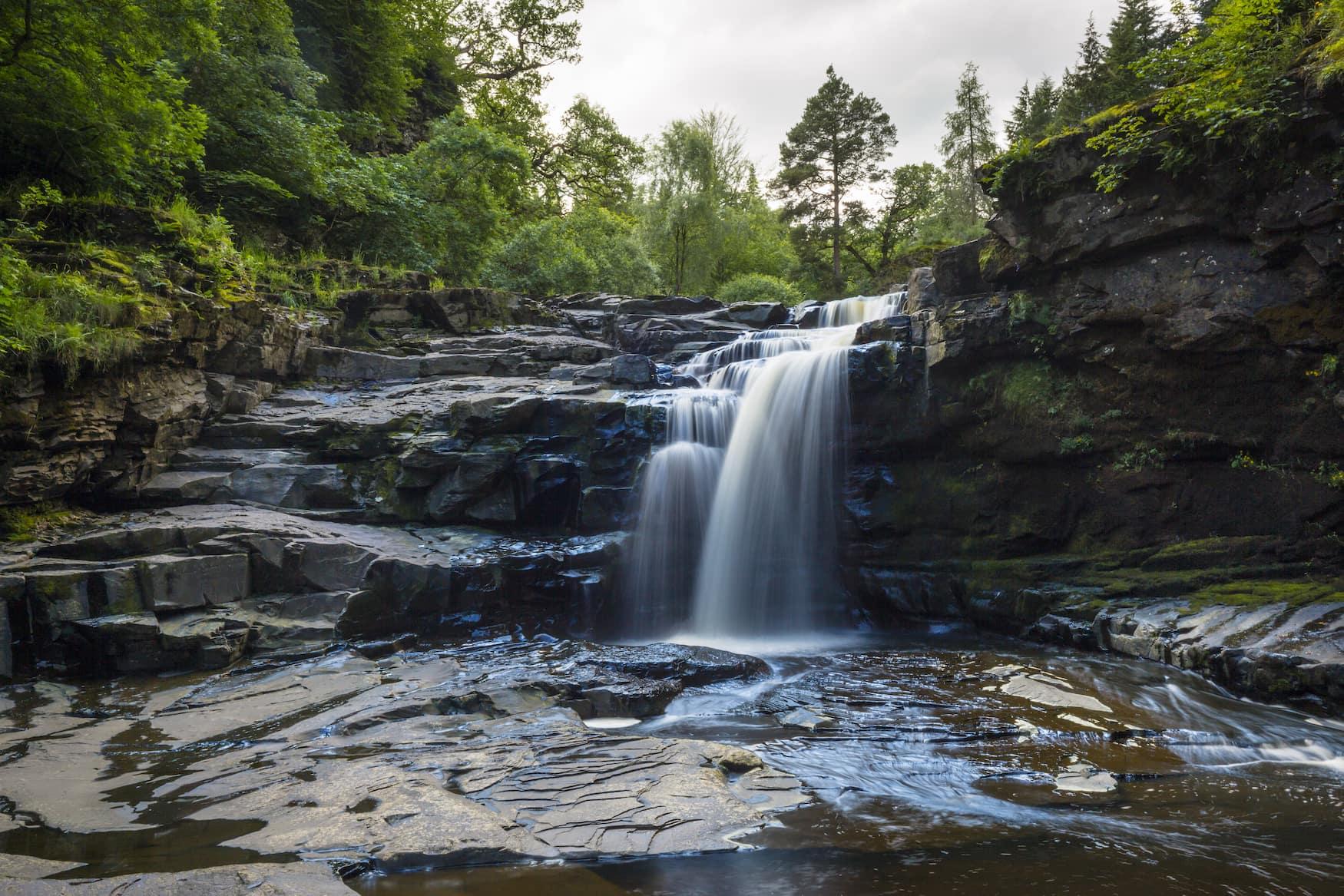 Falls of Clyde Wasserfall in Schottland