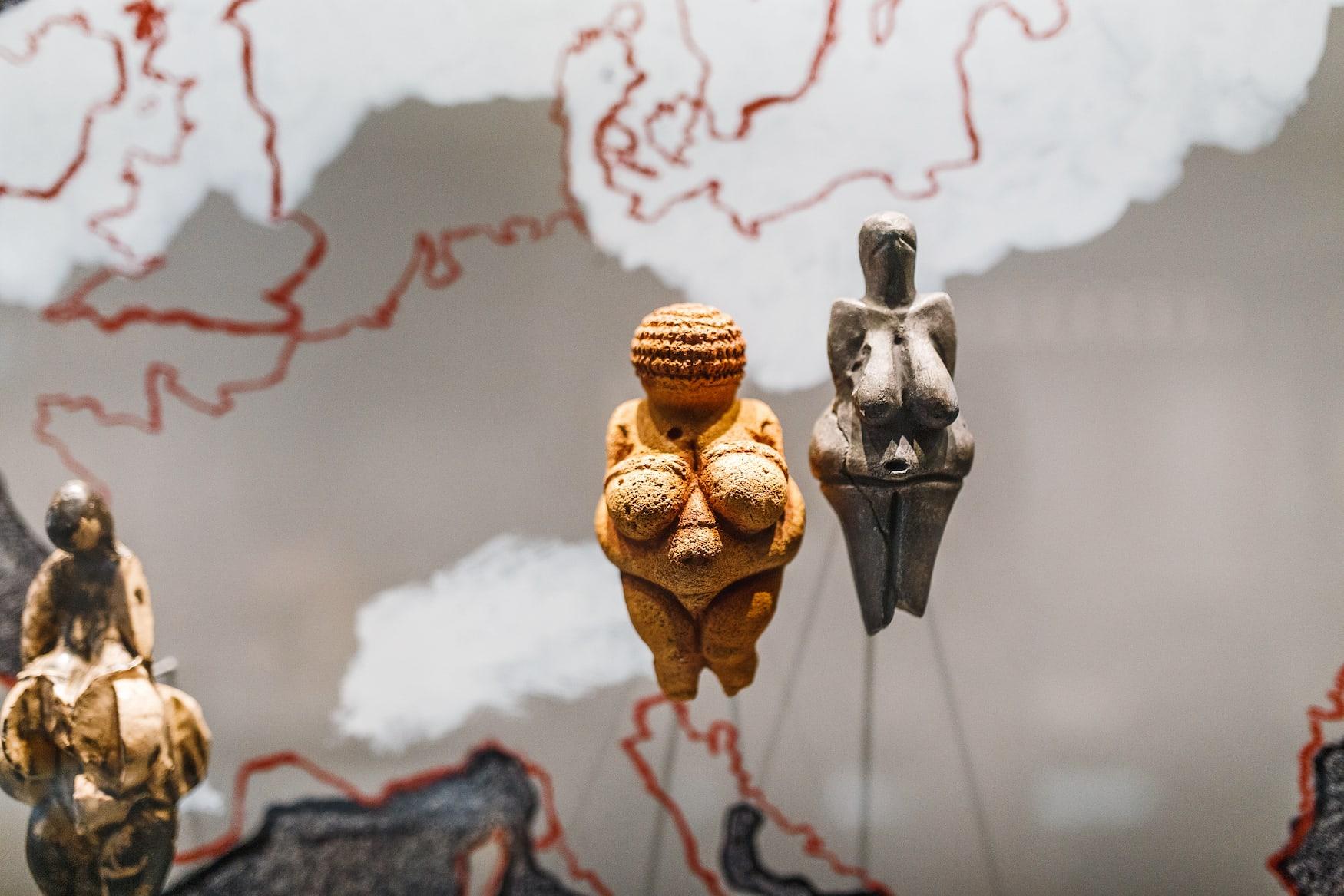 Venus von Willendorf im Naturhistorischen Museum in Wien