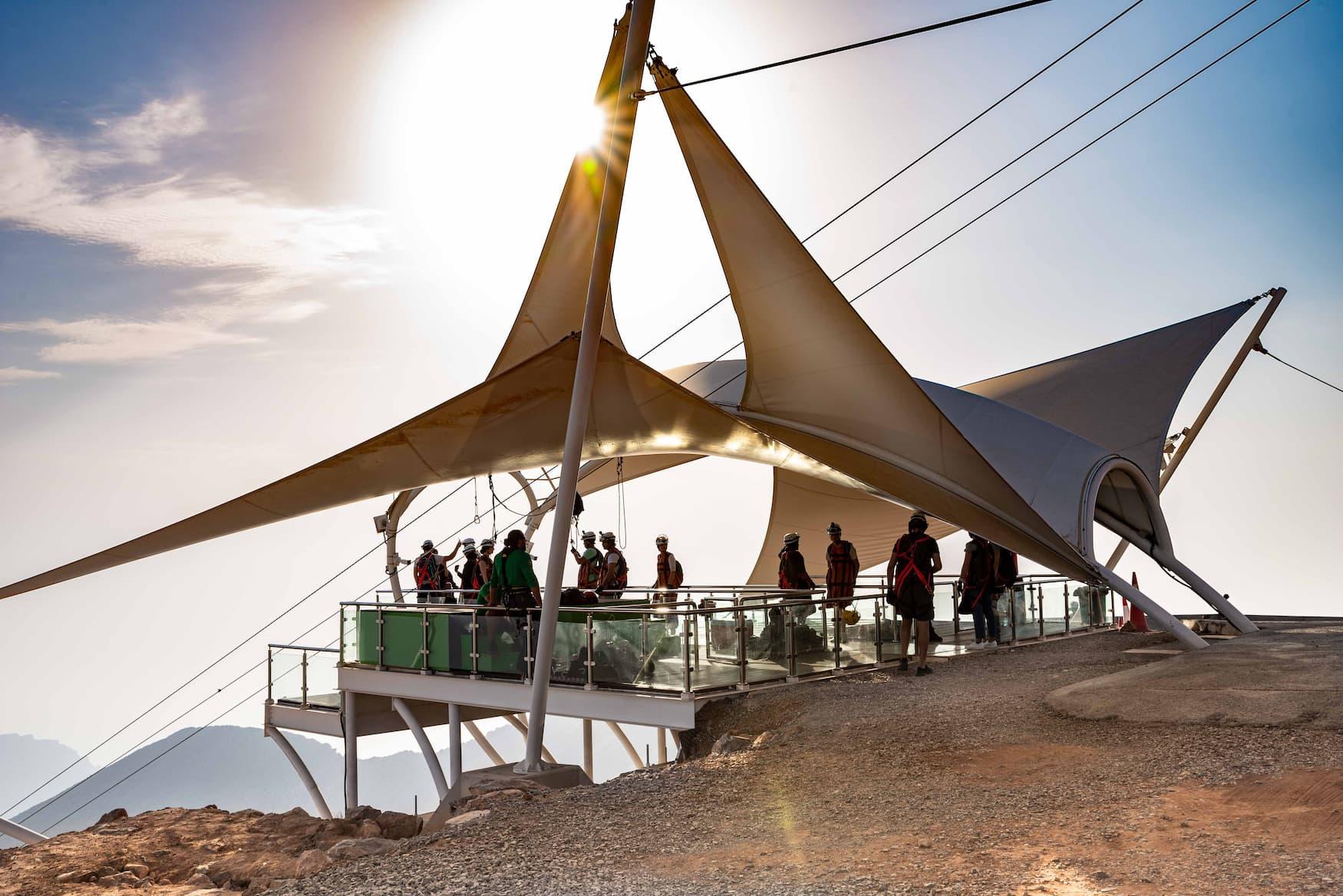 Zipline am Jebel Jais in Ras Al Kaimah
