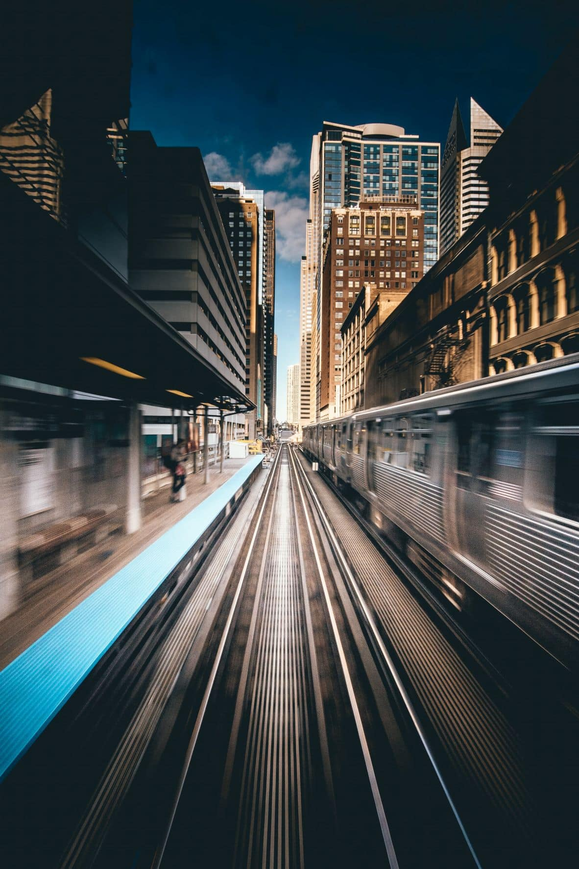 Blue Line in Chicago