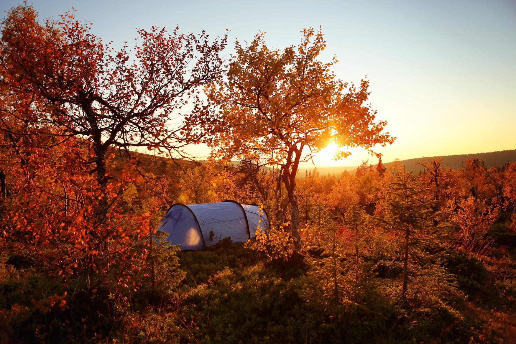 Herbst in Finnland, Indian Summer Farben
