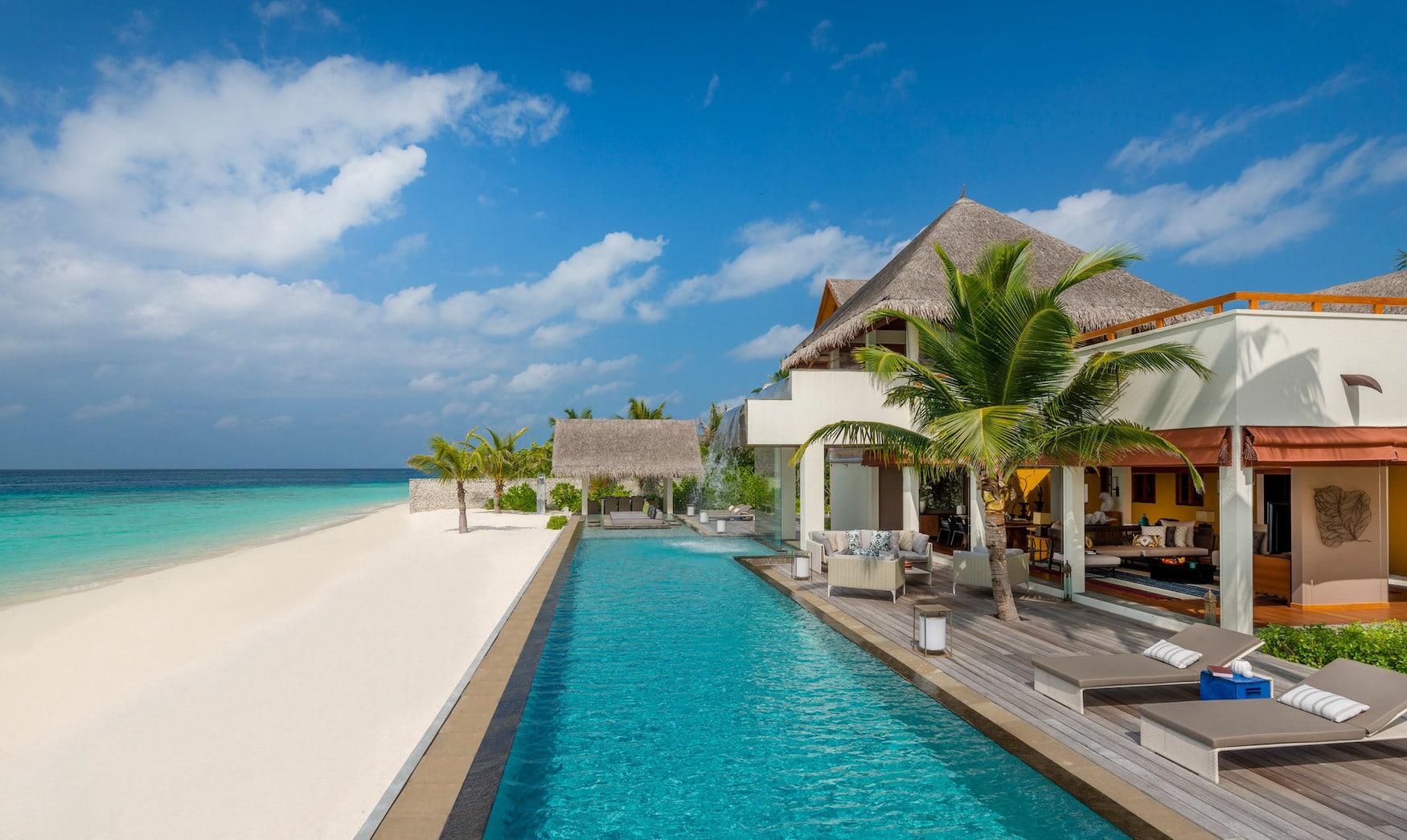 Die Villa des Four Seasons Resorts ist eine der schönsten Villen auf den Malediven