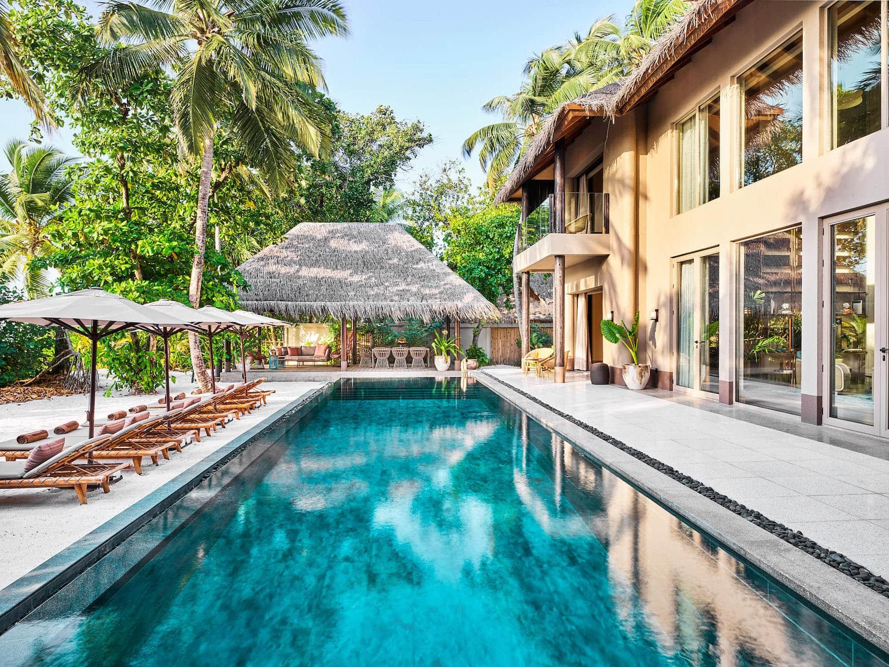 Eine der schönsten Villen auf den Malediven im JOALI Maldives
