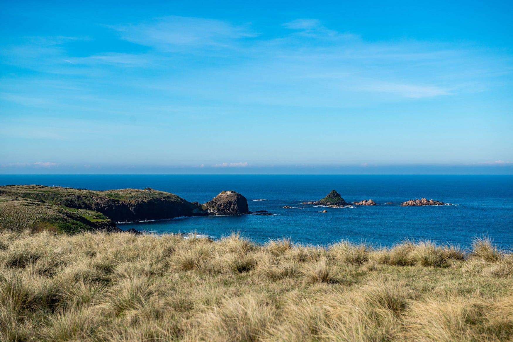 Strandabschnitt und Küstenlinie im australischen Bundesstaat Victoria