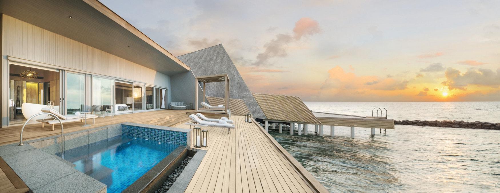 Pool Villa des St. Regis Astor Estate auf den Malediven
