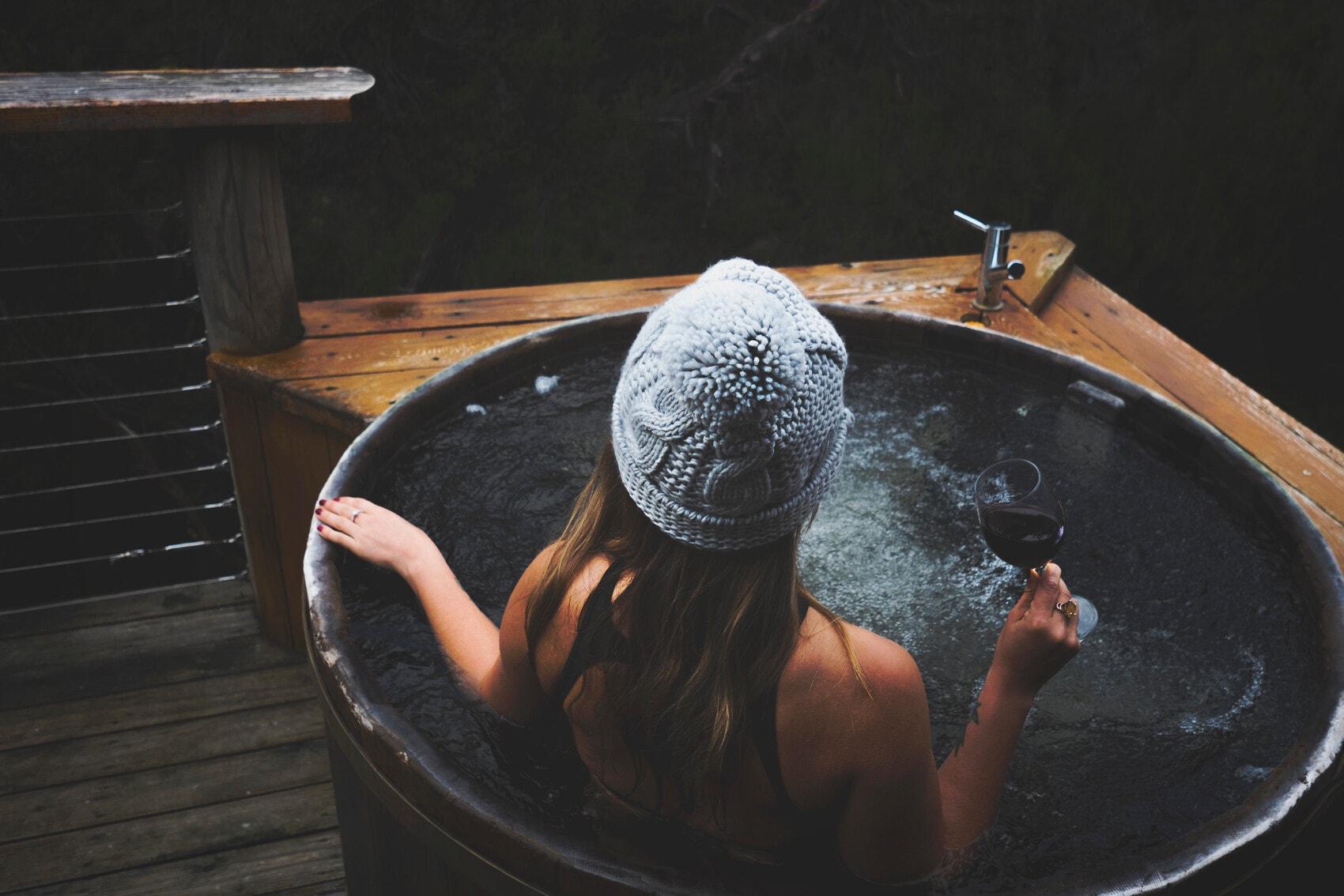 Outdoor-Badewannen in Tasmanien: Cradle Mountain Lodge