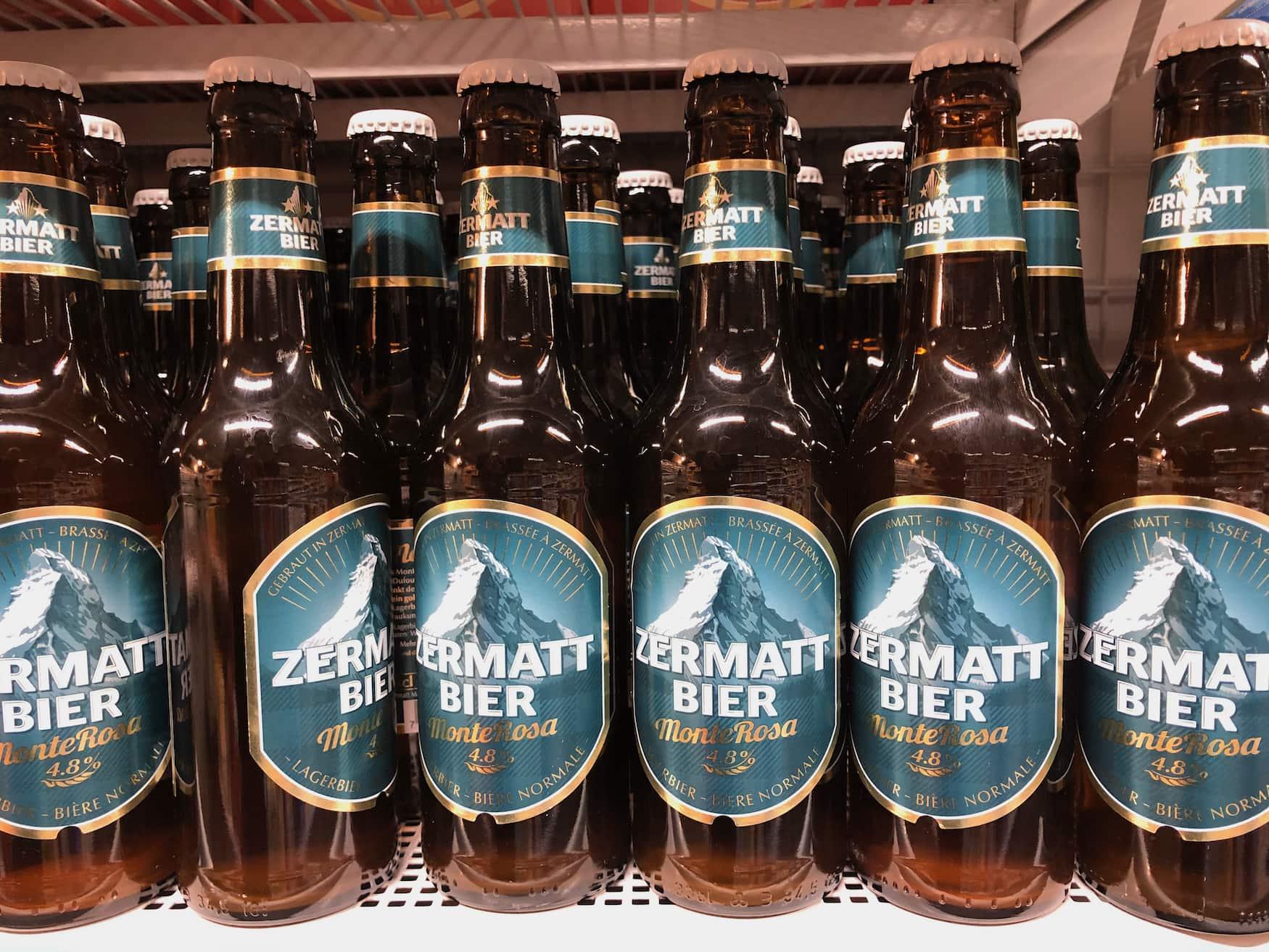 Bier-Etikett Zermatt Matterhorn Bier
