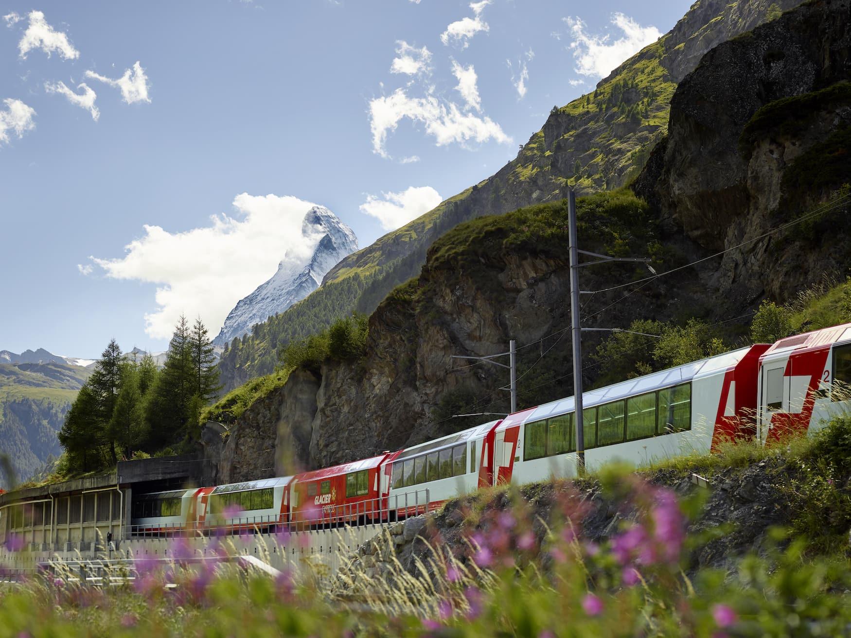 Interrail durch Europa mit dem Glacier Express