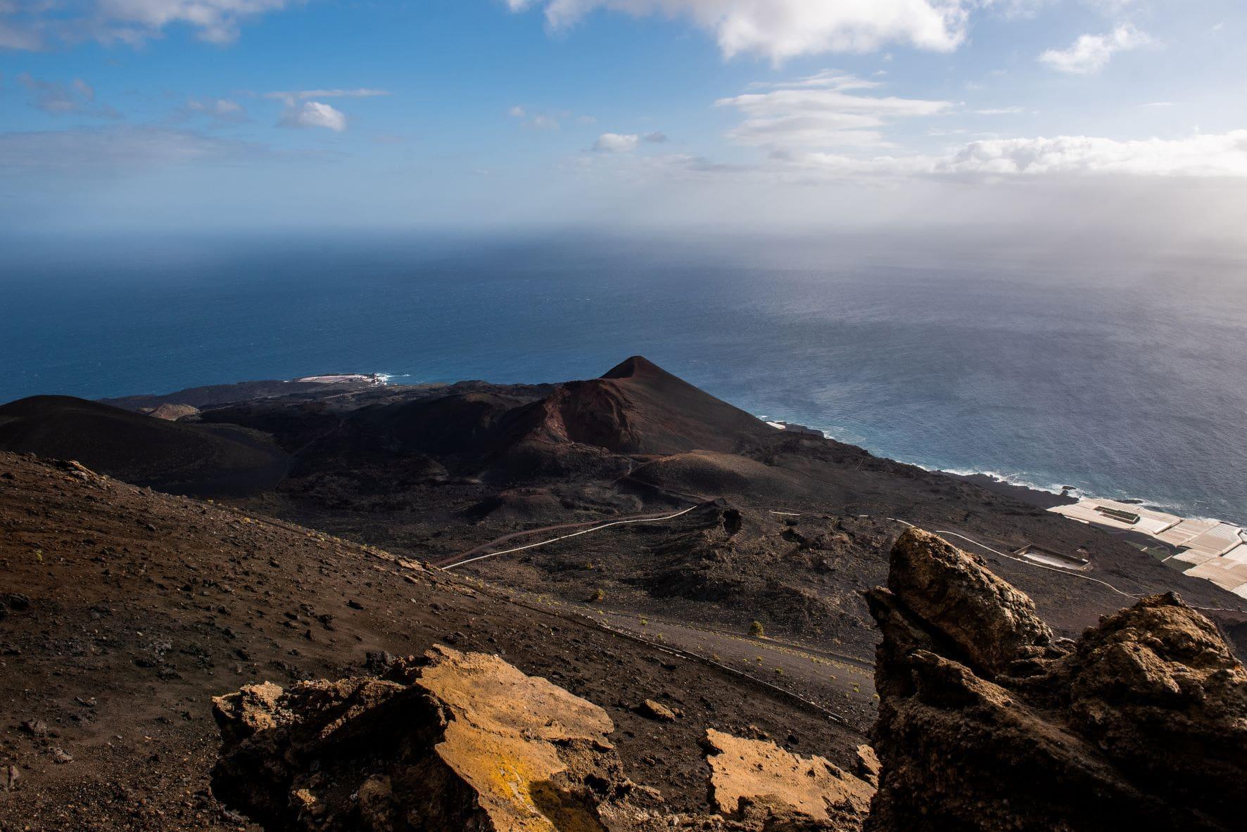 Landschaft im Cumbre Vieja auf La Palma
