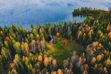 Ruska, der Indian Summer in Finnland