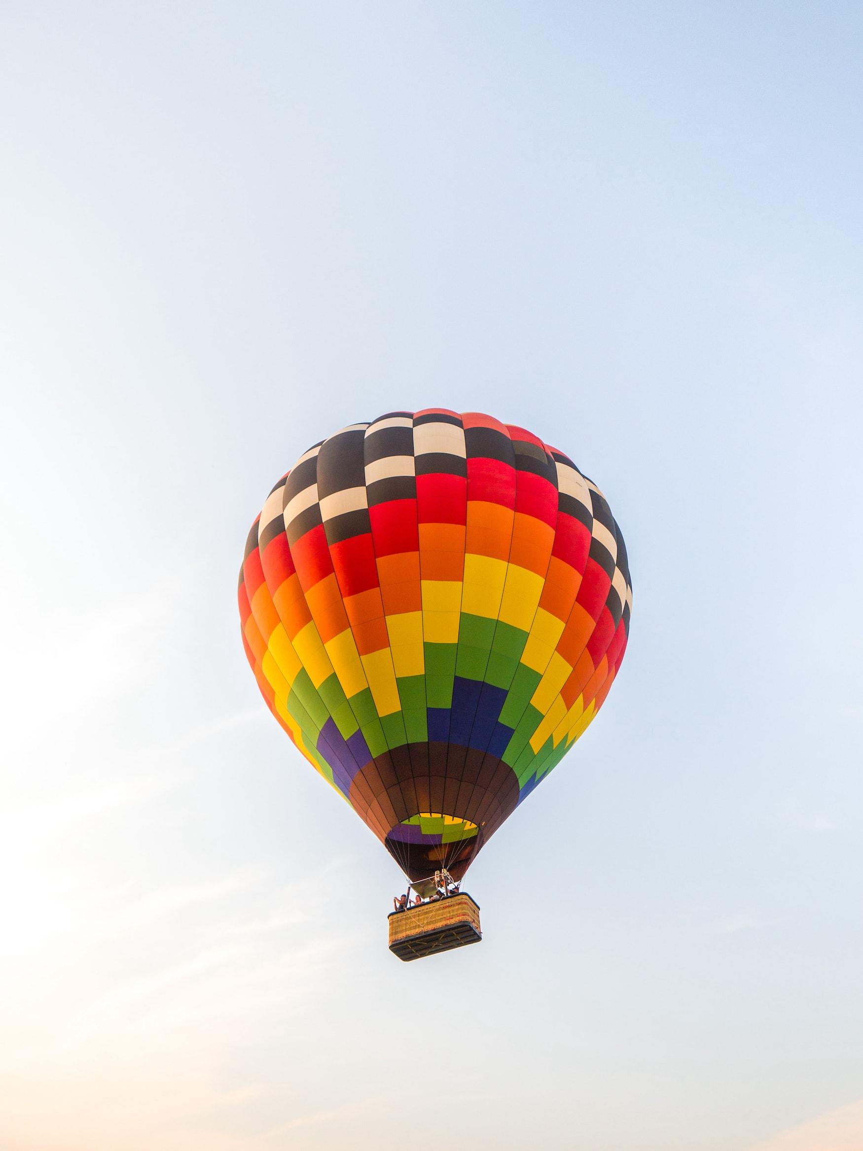 Heißluftballon über Galena in Illinois