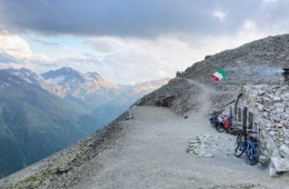 Mountainbike-Strecke in den italienischen Alpen
