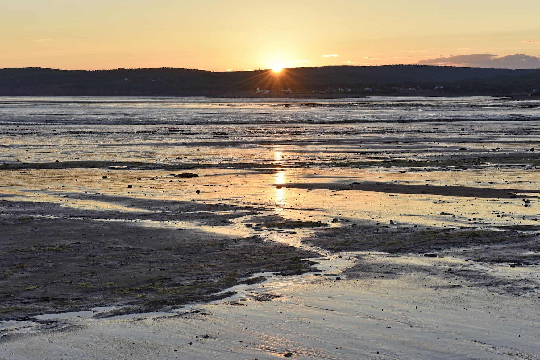 Sonnenuntergang auf Roadtrip in Nova Scotia