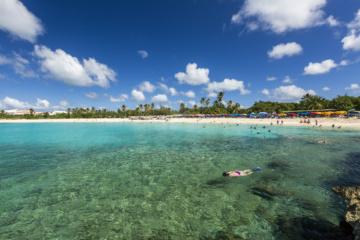 Strand auf der Karibikinsel St. Martin/ Sint Maarten