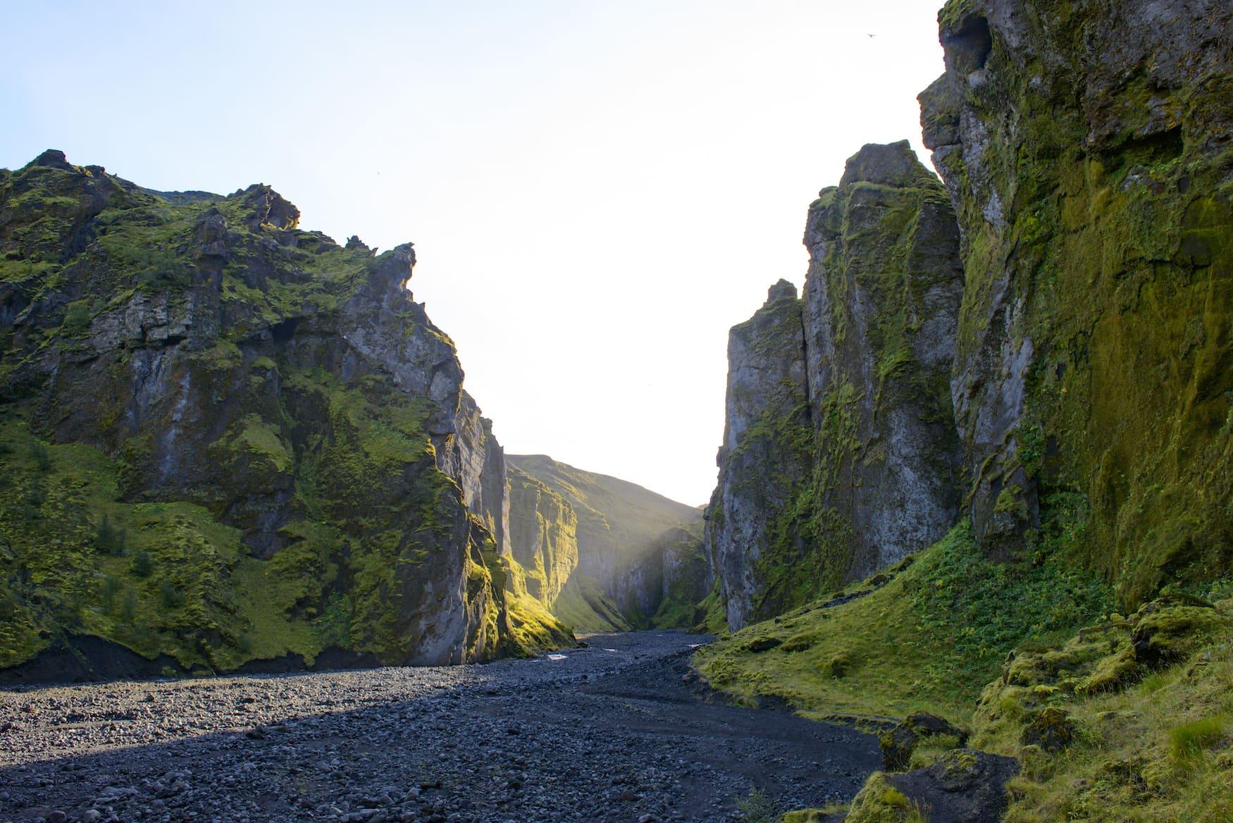 Eingang in den Stakkholtsgjá-Canyon
