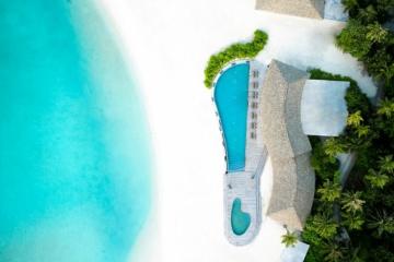Luftaufnahme des Le Meridien Maldives