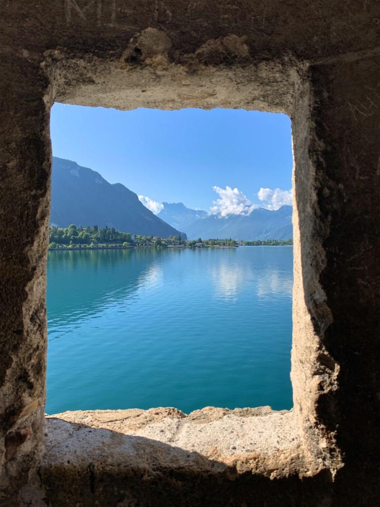 Aussicht aus dem Schloss Chillon auf den Genfer See