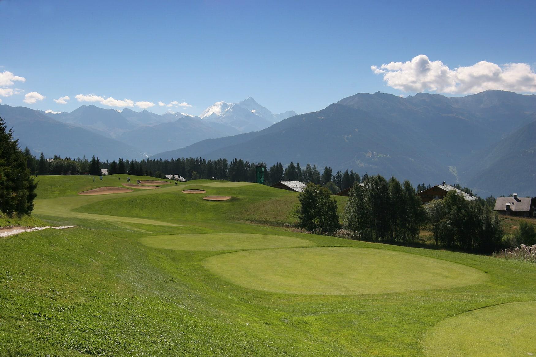 Golfplatz in Crans-Montana