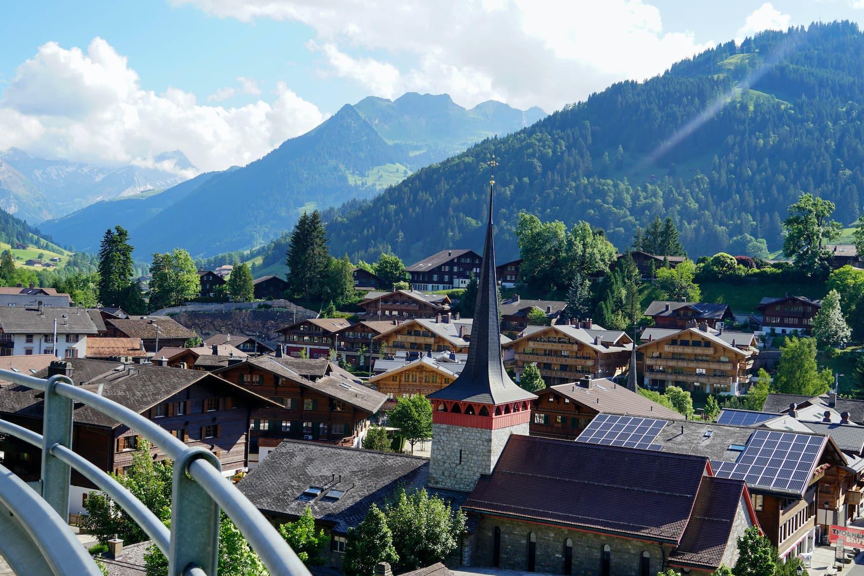 Gstaad in der Schweiz