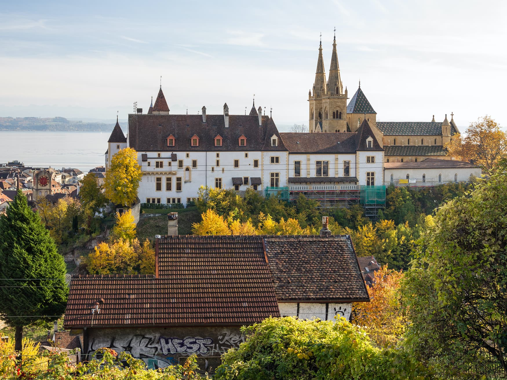 Schloss in Neuenburg, Schweiz