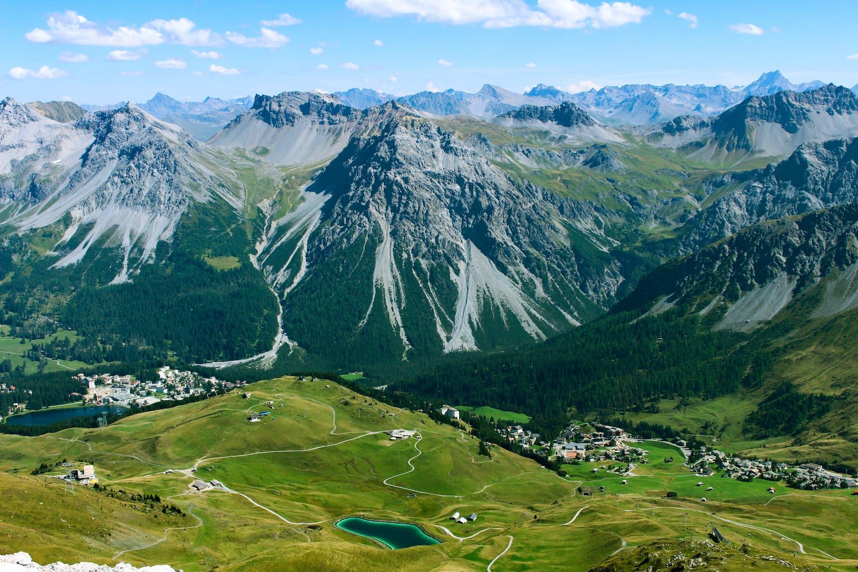 Alpen nahe Arosa mit Weisshorn im Hintergrund