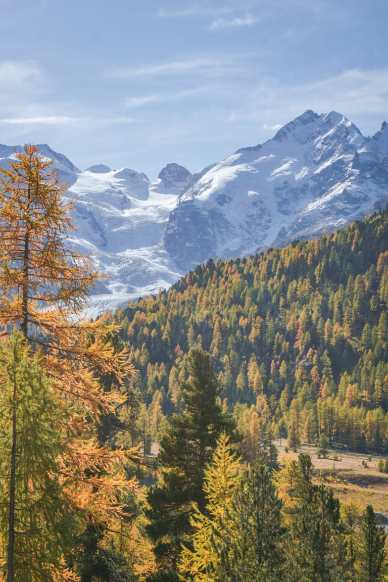 Herbstliche Landschaft bei Pontresina