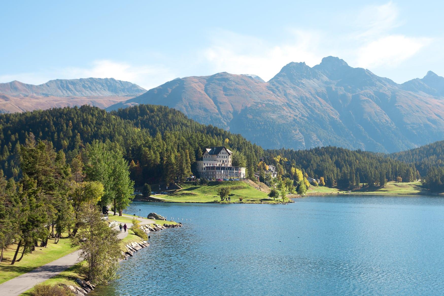 Blick auf St. Moritz in der Schweiz