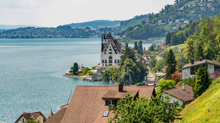 Panoramablick auf Vitznau