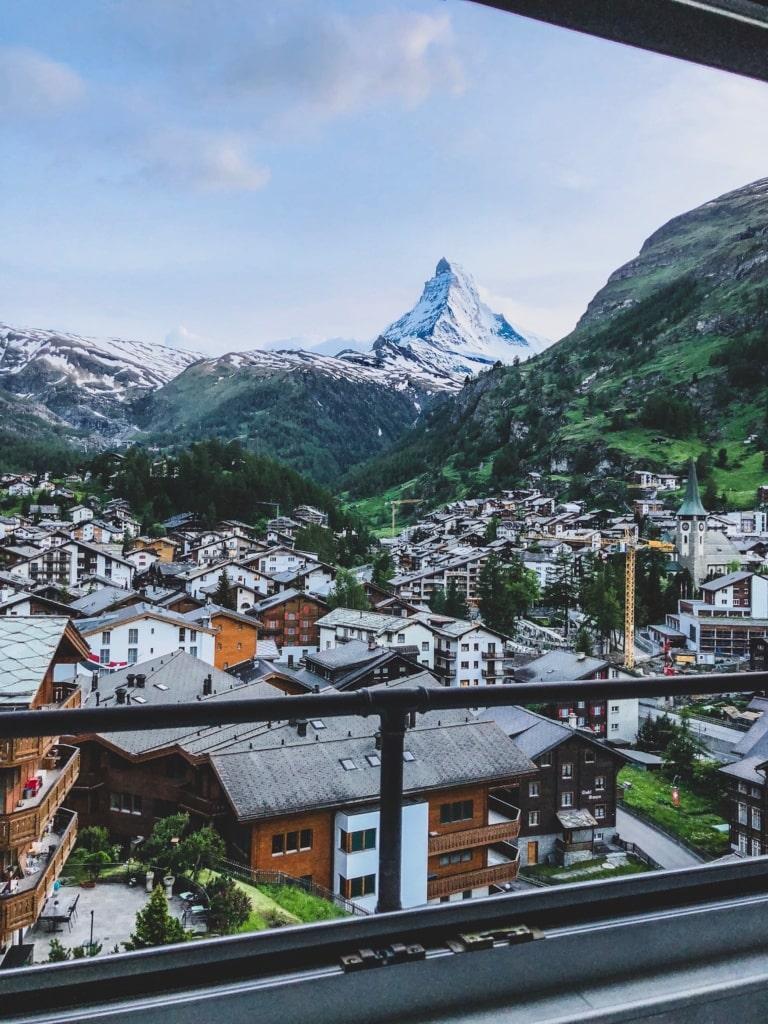 Zermatt, im Hintergrund sieht man das Matterhorn