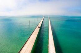 Vogelperspektive auf den Overseas Highway