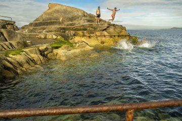 Von Dublin ans Meer: Sprung ins kalte Nass