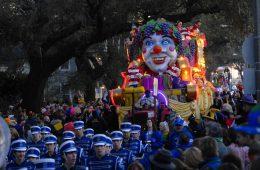 Teilnehmer der Mardi-Gras-Parade in New Orleans
