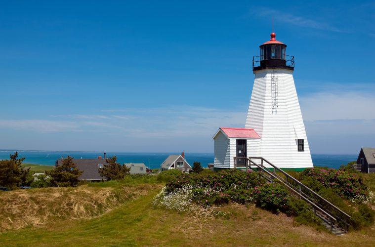Blick auf einen Leuchtturm in Massachusetts