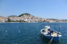 Boots im Hafen von Lesbos