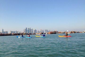 Im Kajak unterwegs mit AquaSports Qatar
