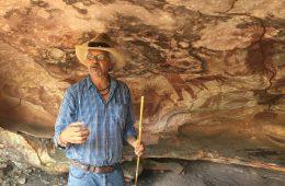 Höhlenmalerei auf Cape York