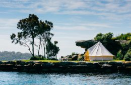 Luxuszelt im Sydney Harbor