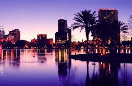 Blick auf die Skyline in Orlando