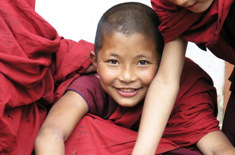 Kindermönch im Bhutan