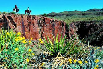 Zwei Reiter unterwegs in Texas