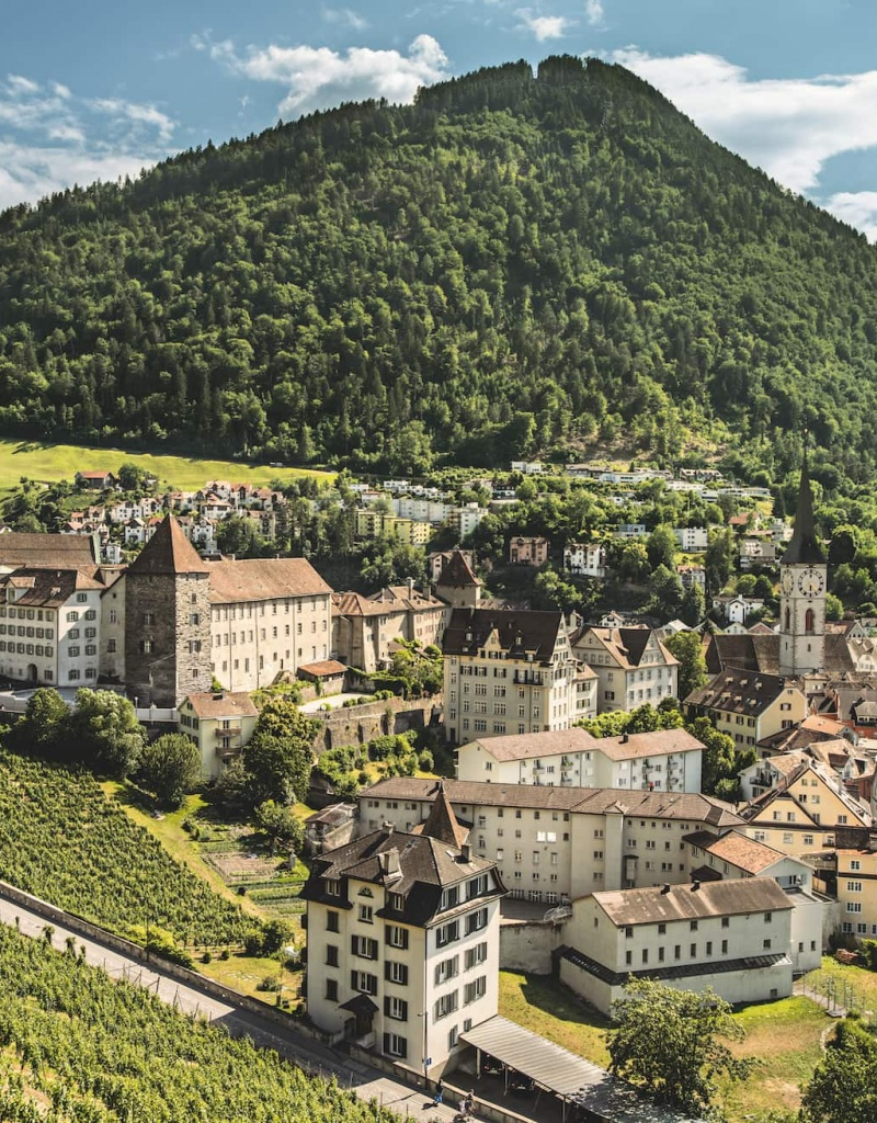 Altstadt von Chur, Schweiz.